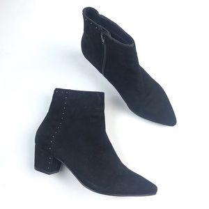 Seychelles Black Suede Block Heel Ankle Boots 7.5
